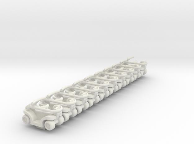 Quadrunner in White Natural Versatile Plastic