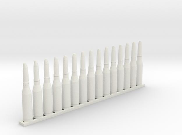 MG151/15 15 shells 1:6 in White Natural Versatile Plastic