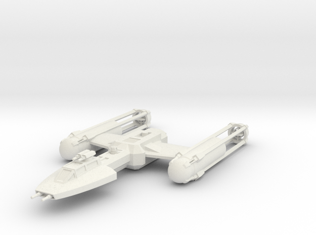 A1 Y-Wing in White Strong & Flexible