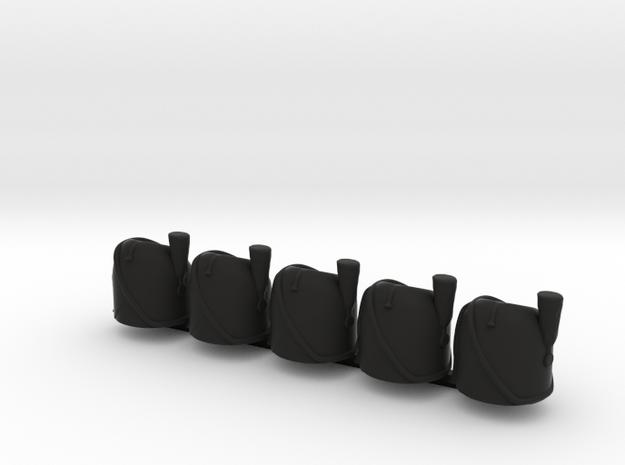 5 x French Bearskin V2 in Black Strong & Flexible
