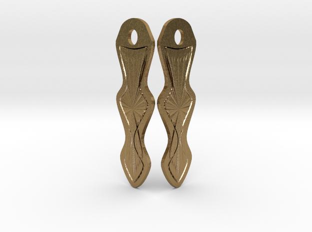 Arrow Earrings in Polished Gold Steel