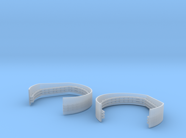 1/192 Aft Superstructure Level 2 Gun Tubs Set in Smooth Fine Detail Plastic
