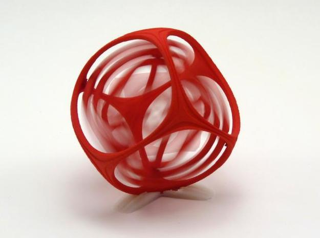 Gyro the Cube 3d printed Red in Motion