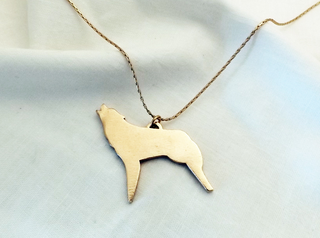 Fierce As The Night Coyote™ Charm in Natural Bronze