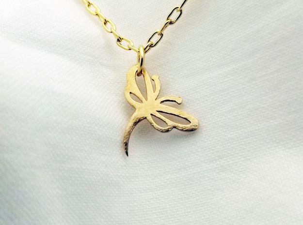 Buzzing Dragonfly™ Charm in Natural Brass: Extra Small