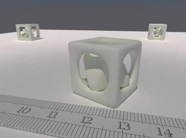 Inséparable N°3 3d printed A LuxRender rendering. The ruler is graduated in cm.