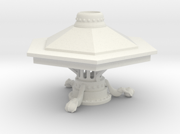McGann Console  - With Support Plinth in White Strong & Flexible