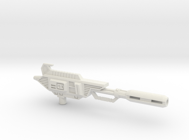 Ionic Displacer Rifle for TR Astrotrain in White Natural Versatile Plastic