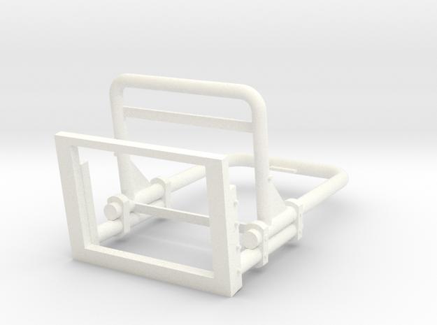 Whirlwind Seat in White Processed Versatile Plastic
