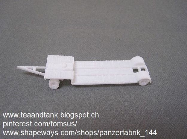 1/144 Sd Anh. 115  German tank transporter in White Natural Versatile Plastic