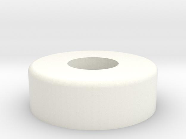 Whirlwind Oleo Cap  in White Processed Versatile Plastic