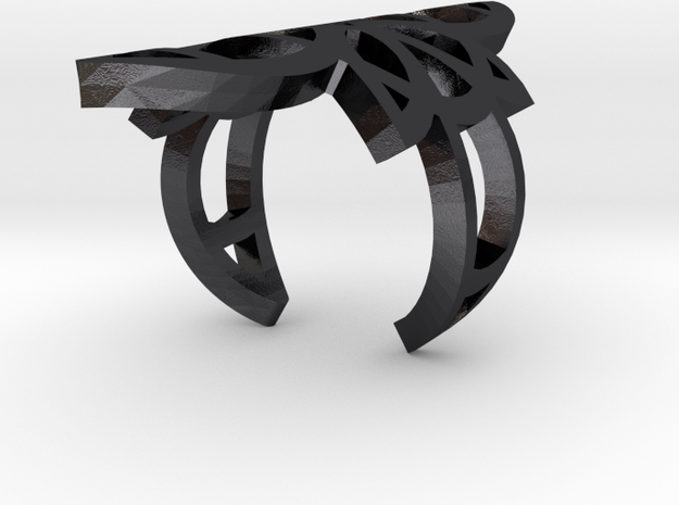 Witch Rings: Maret in Polished and Bronzed Black Steel