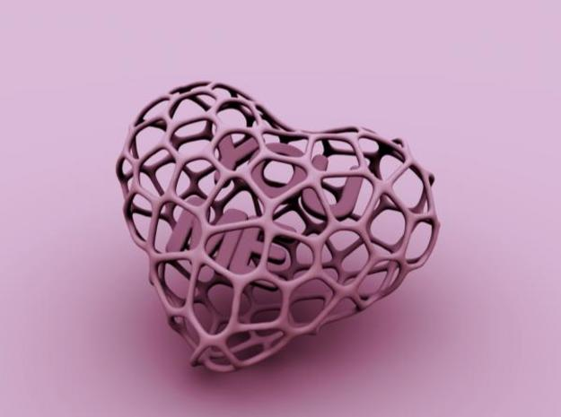 Voro-Heart 80mm 3d printed Description