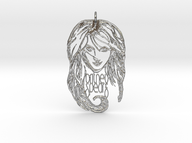 Britney Spears Pendant in Raw Silver