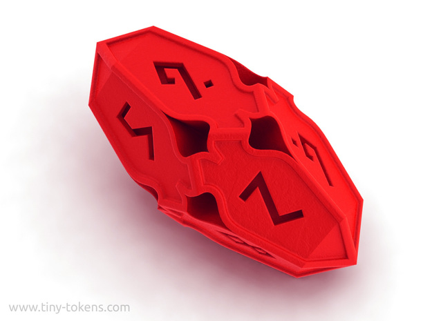 Amonkhet D10 gaming die - Large, solid in Red Processed Versatile Plastic
