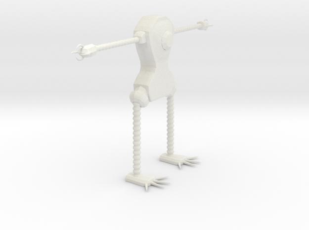 Clawrobot in White Natural Versatile Plastic: Small