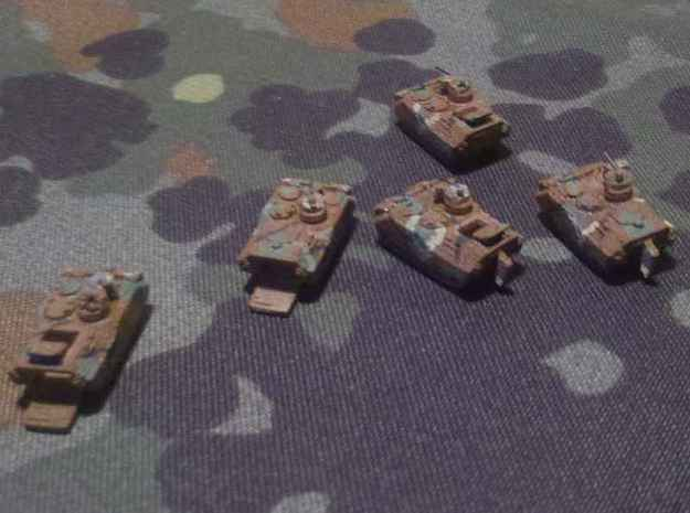 1/300 South Korean K-200 KIFV 3d printed Top view of WSF models. Note the open hatches