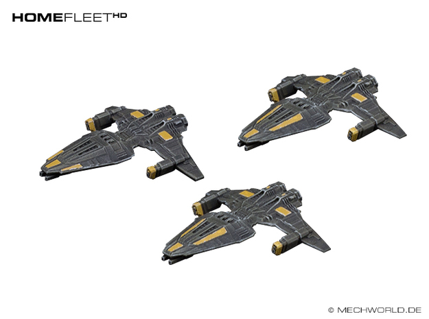HOMEFLEET Frigate Squadron - 3 ships 3d printed Painted frigates.