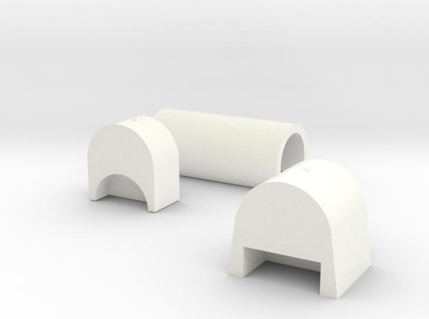 GER/LNER/BR G15/J79/Y6Tram loco boiler assembly in White Processed Versatile Plastic