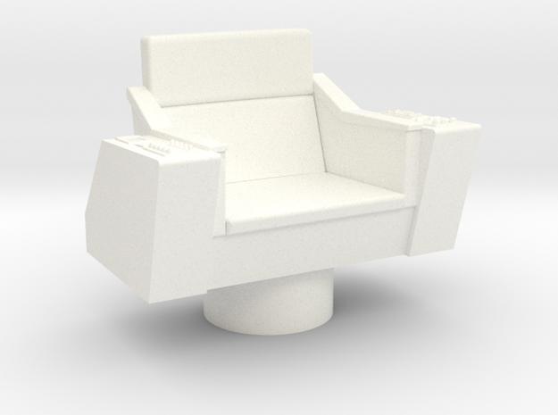 Bridge - Captain's Chair 12 in White Processed Versatile Plastic