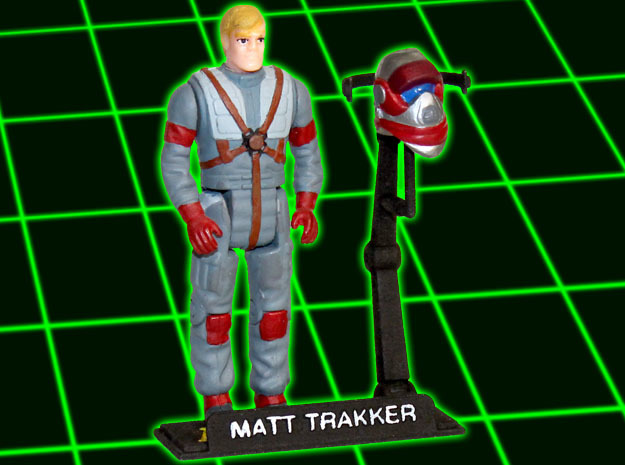 MASK Figurestand with customizable nametag in White Strong & Flexible Polished