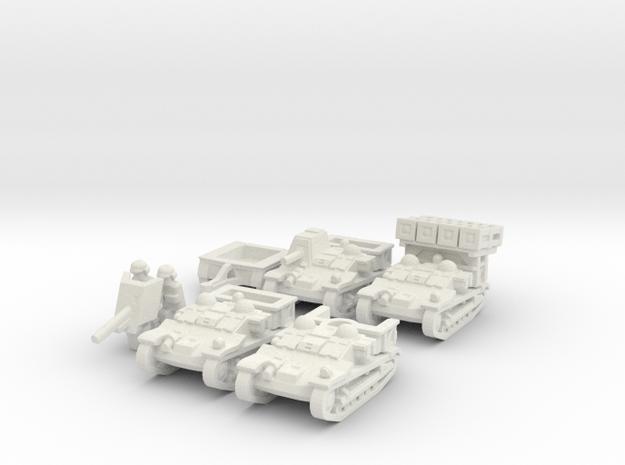 Renault Set 1/87 in White Natural Versatile Plastic