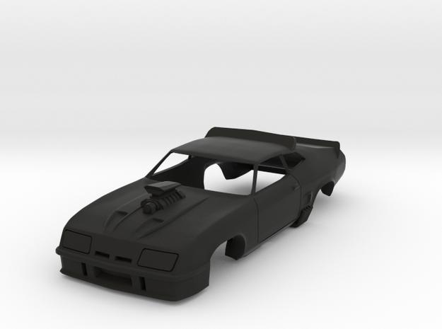 MFP Interceptor, HO Scale 1/64 Slot Car Body in Black Strong & Flexible