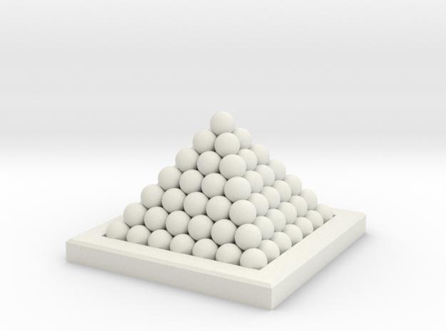 18th Century 6# Cannon Balls-Monkey 35 in White Natural Versatile Plastic