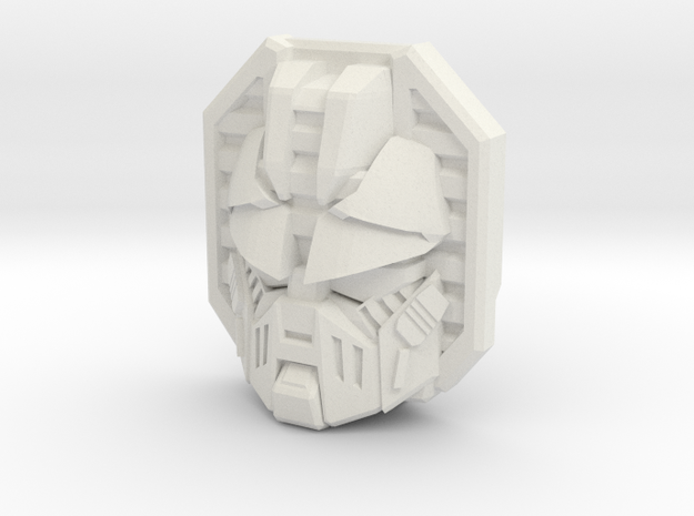 Movie Longarm/Hoist Face (Titans Return) in White Natural Versatile Plastic