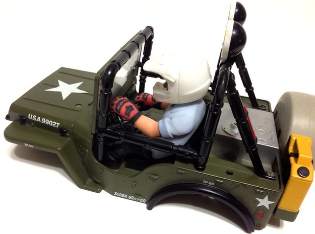 WW10009 Wild Willy Moto Colour Printed Driver Body 3d printed Direct fit for the Tamiya Wild Willy (sold separately).