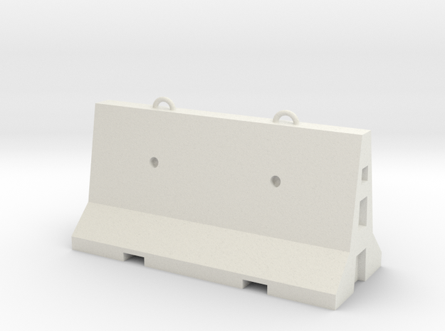 1:50 Road Cement Barrier in White Strong & Flexible