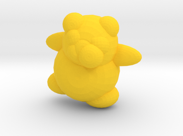 HoneyBerry Teddy Bear in Yellow Processed Versatile Plastic