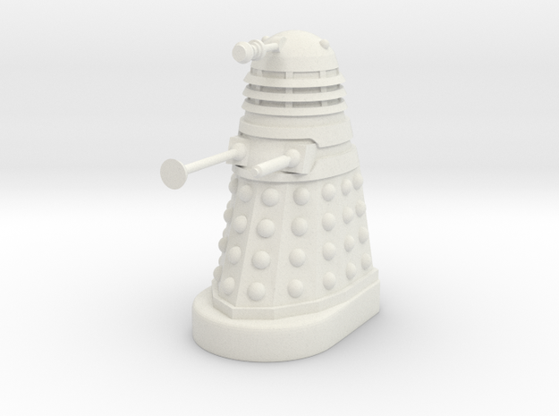 Dalek Mk II - Neutral Pose in White Strong & Flexible
