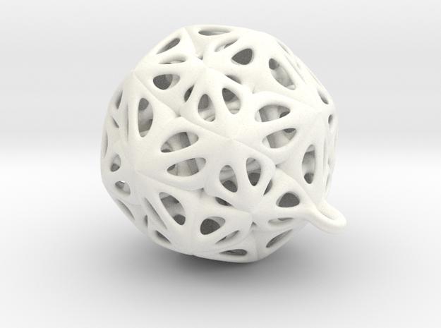 Pendant star in White Processed Versatile Plastic