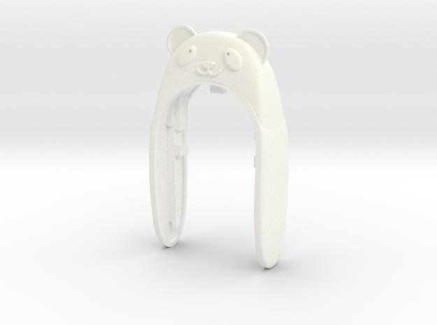 PANDA 2 KEYFOB  in White Processed Versatile Plastic