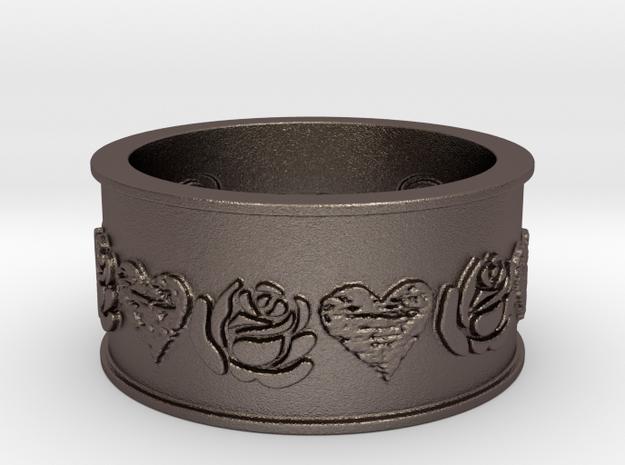 Black Heart Briar Rose  in Stainless Steel: 10 / 61.5