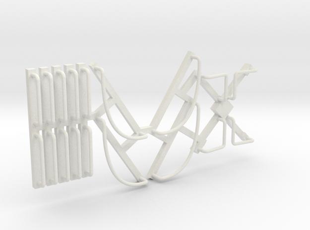 DRGW Caboose Railings in White Natural Versatile Plastic