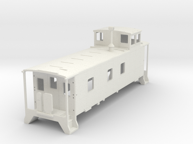D&RGW Caboose V2 H0  in White Natural Versatile Plastic