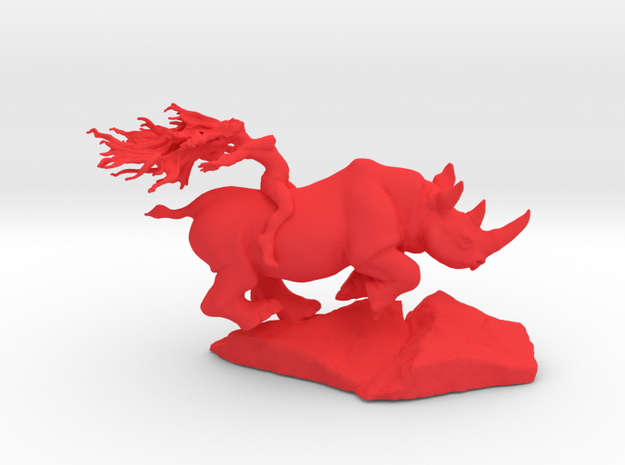 Rhino Rider 75mm in Red Processed Versatile Plastic