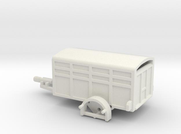 1046 Tiertransporter HO in White Strong & Flexible: 1:87 - HO