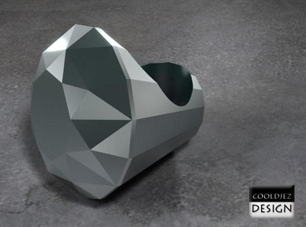 Ring - Big Diamond 3d printed Render