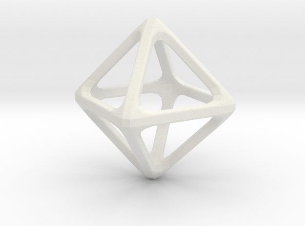 Octohedron in White Strong & Flexible