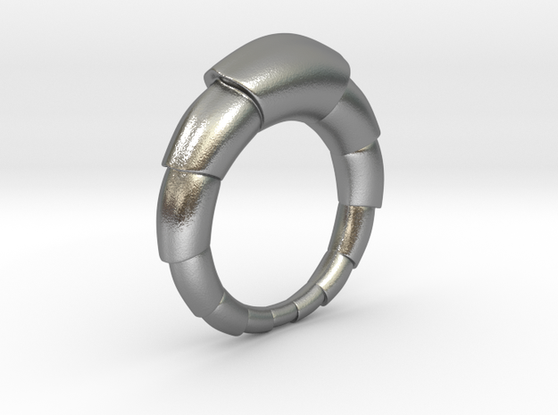 Mats - Ring in Natural Silver: 6 / 51.5