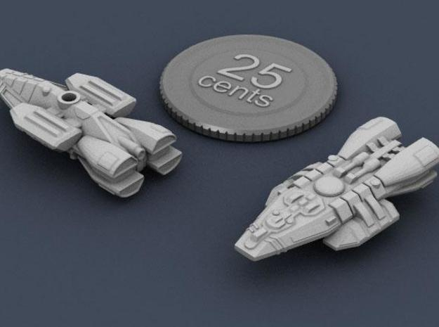 Frontier Trader 3d printed Render of the frontier trader, with virtual quarter for scale.