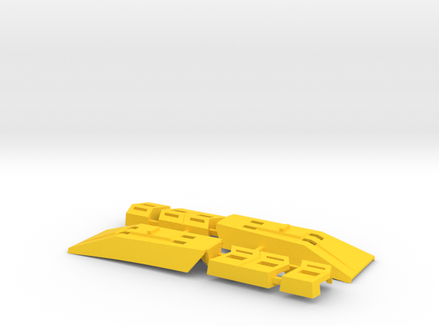"Omega Supreme Leg Clips or ""shields"" - Finish off  in Yellow Processed Versatile Plastic"