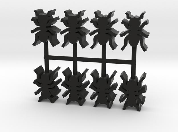 Custom Order, 8-set 16mm Ants in Black Natural Versatile Plastic
