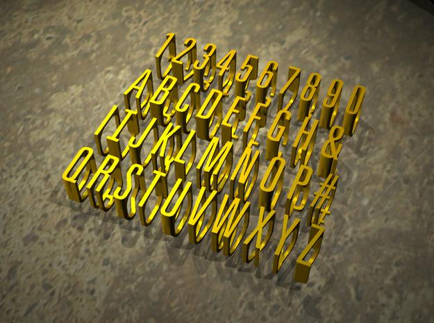 Fontasy Ring - Select character and size 3d printed Fontasy Alphanumeric rings