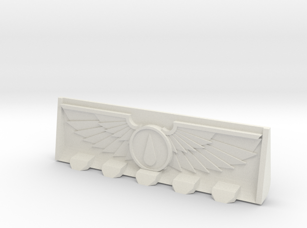 Devotional Teardrop Bulldozer Blade in White Natural Versatile Plastic