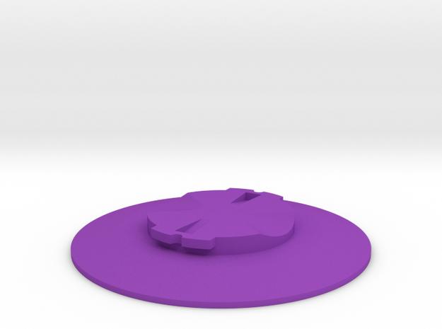 Garmin Quarter-Turn Flat Mount in Purple Processed Versatile Plastic
