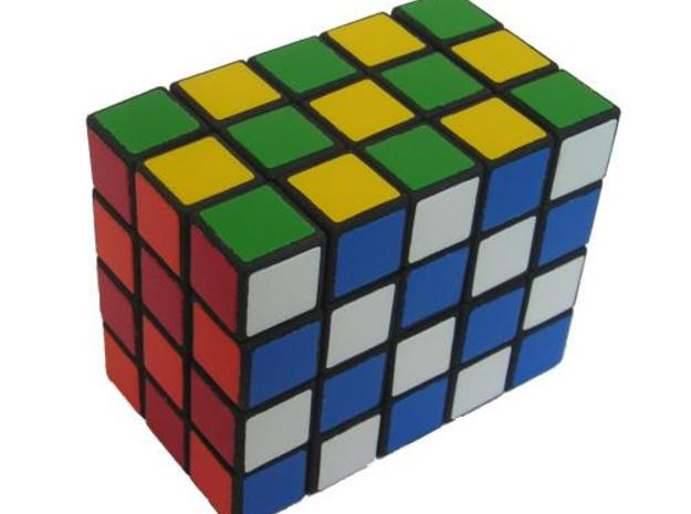 3x4x5 cuboid puzzle (fully functional) 3d printed Checker pattern
